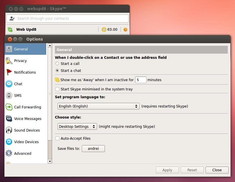 Natty narwhal 11. 04 install skype (2. 2 beta updated) youtube.