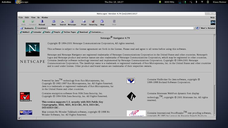 netscape navigator 2012