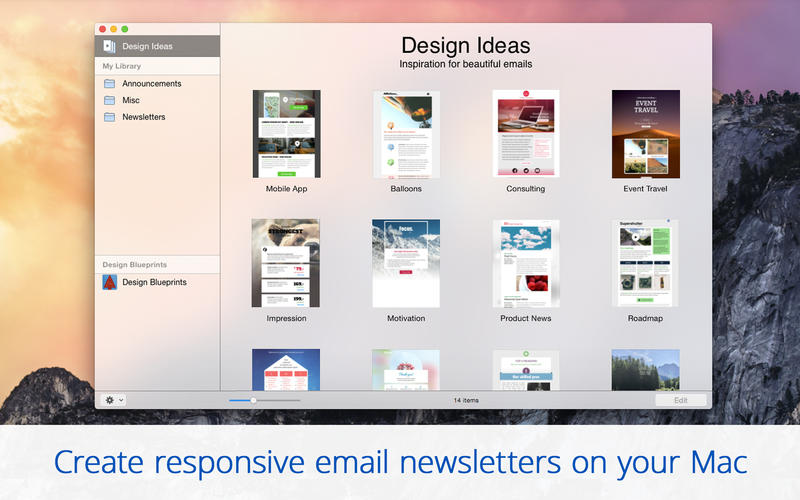 Mail Designer Is In Intuitive To Create Customized Html E Mails Stationery Templates And Newsletters