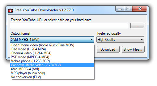 download youtube downloader free for windows 7