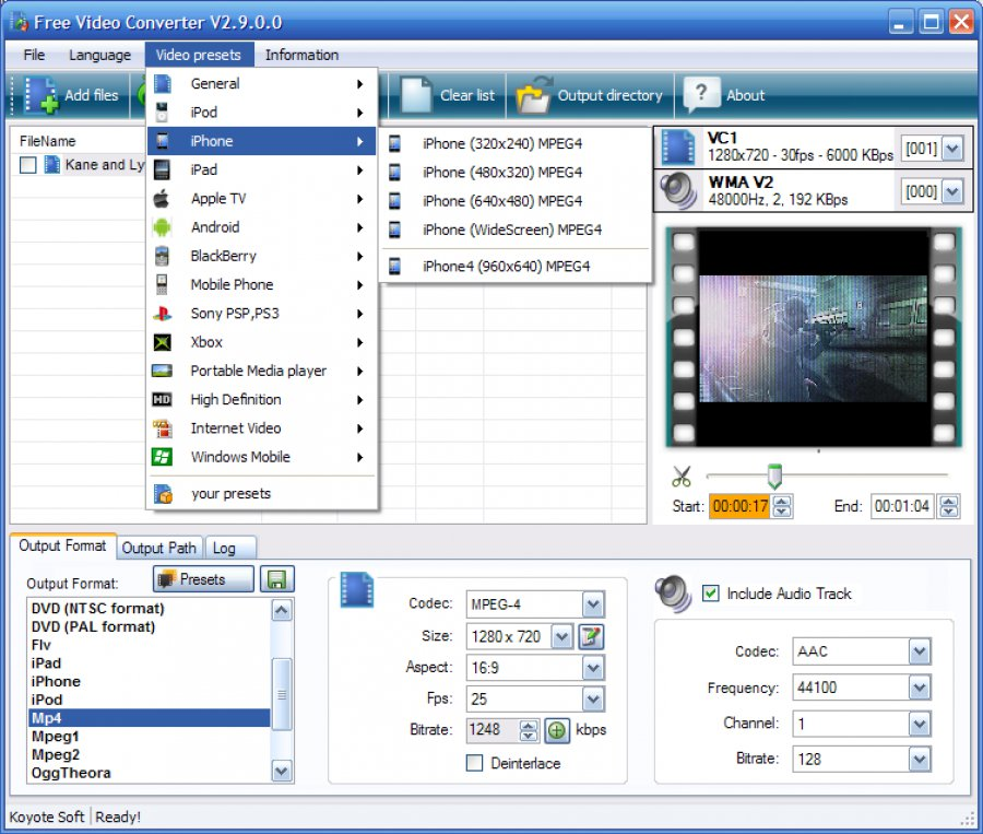 descargar koyote free video converter gratis en espa?ol