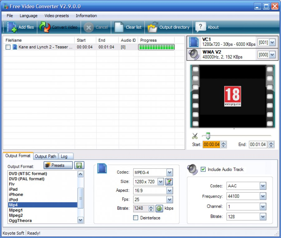 descargar koyote free video converter full