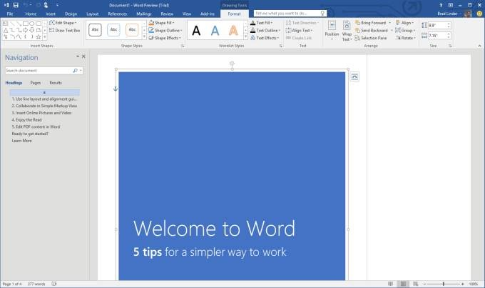download word 2016 for windows