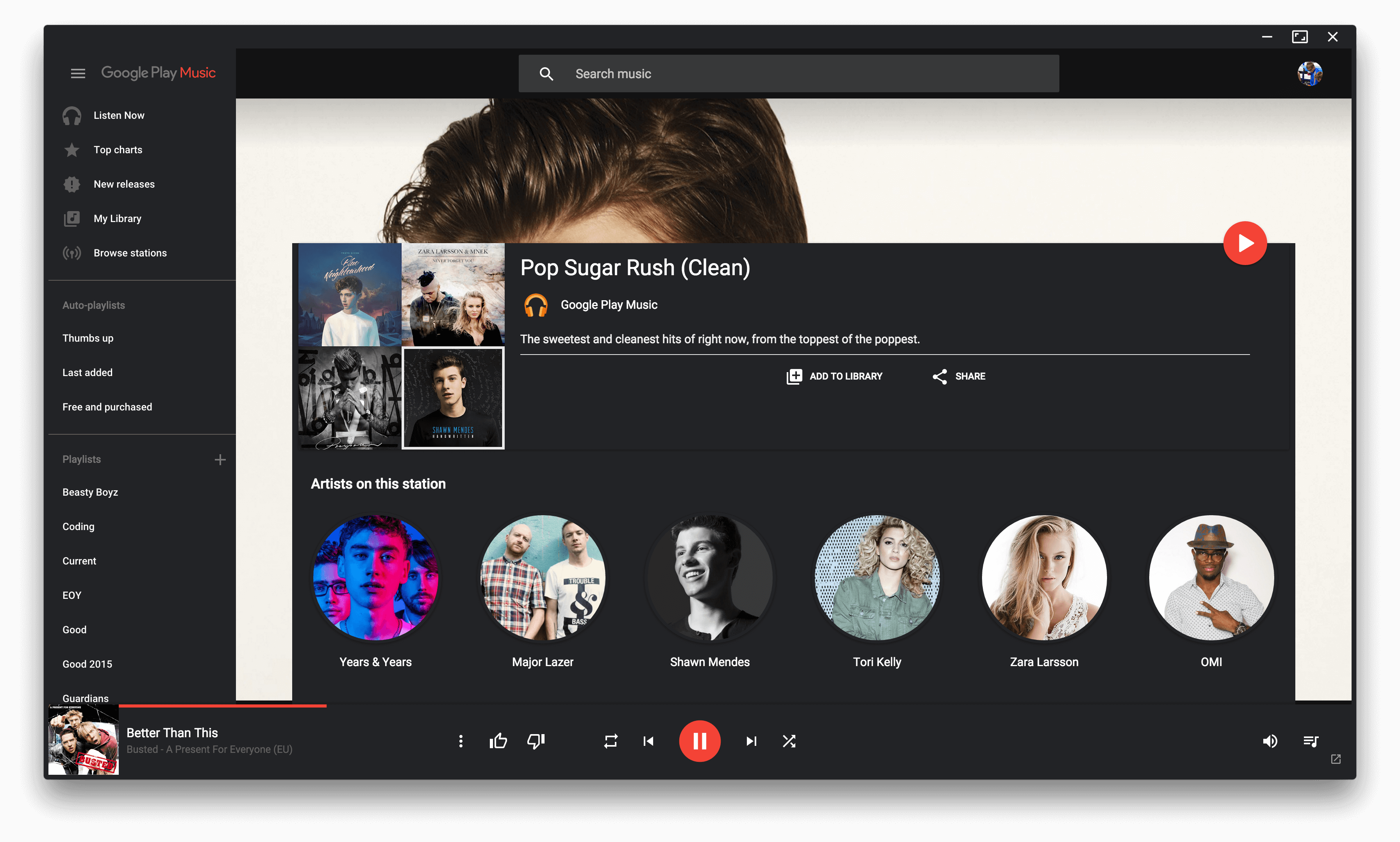 is there a google play music app for windows 10